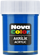 Nova Color Akrilik Boya Şişe 30cc  Mavi Nc-171