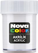Nova Color Akrilik Boya Şişe 30cc  Beyaz Nc-173