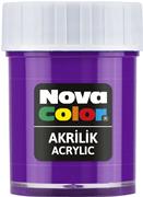 Nova Color Akrilik Boya Şişe 30cc  Mor Nc-177
