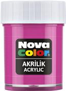 Nova Color Akrilik Boya Şişe 30cc  Pembe Nc-178