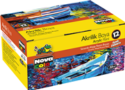 Nova Color Akrilik Boya Şişe 12 Li 30cc Nc-179