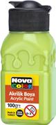 Nova Color Akrilik Boya Şişe 100 Gr Açık Yeşil Nc-2021