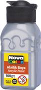 Nova Color Akrilik Boya Şişe 100 Gr Gümüş Rengi Nc-2036