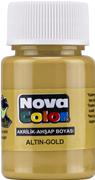 Nova Color Akrilik Boya Altın Rengi Nc-234