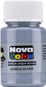 Nova Color Akrilik Boya Gümüş Rengi Nc-235
