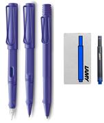 Lamy Safari Candy 3 Lü Set Dolma Kalem+Roller Kalem+Tükenmez Kalem - Violet