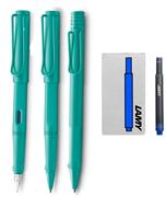 Lamy Safari Candy 3 Lü Set Dolma Kalem+Roller Kalem+Tükenmez Kalem - Aquamarine