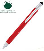 MONTEVERDE U.S.A Tool Pen 0.9 Versatil+Stylus+2 Tornavida+4 Cetvel - Kırmızı