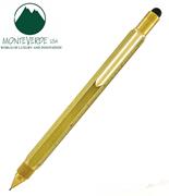 MONTEVERDE U.S.A Tool Pen 0.9 Versatil+Stylus+2 Tornavida+4 Cetvel - Pirinç