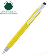MONTEVERDE U.S.A Tool Pen 0.9 Versatil+Stylus+2 Tornavida+4 Cetvel - Sarı
