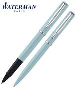 Waterman Allure Pastel Mavi/Paladyum Roller Kalem + Tükenmez Kalem