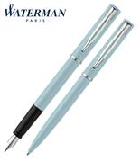 Waterman Allure Pastel Mavi/Paladyum Dolma Kalem + Tükenmez Kalem