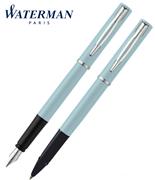 Waterman Allure Pastel Mavi/Paladyum Dolma Kalem + Roller Kalem