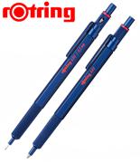 rOtring 600 Metal Mavi Tükenmez Kalem + 0.5mm Versatil Kalem