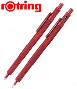 rOtring 600 Metal Kırmızı Tükenmez Kalem + 0.7mm Versatil Kalem