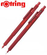 rOtring 600 Metal Kırmızı Tükenmez Kalem + 0.5mm Versatil Kalem