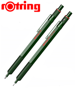 rOtring 600 Metal Yeşil Tükenmez Kalem + 0.7mm Versatil Kalem