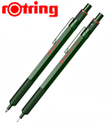rOtring 600 Metal Yeşil Tükenmez Kalem + 0.5mm Versatil Kalem
