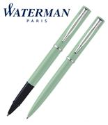Waterman Allure Pastel Yeşil/Paladyum Roller Kalem + Tükenmez Kalem