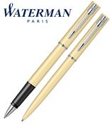 Waterman Allure Pastel Sarı/Paladyum Roller Kalem + Tükenmez Kalem