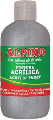 ALPINO AKRİLİK BOYA 250 ML METALİK GÜMÜŞ DV-0135