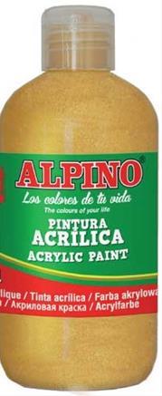 ALPINO AKRİLİK BOYA 250 ML METALİK GOLD DV-0136