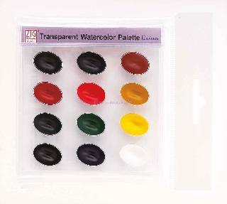 Zig Suluboya Pigment Pallette Wskg301-2 12 Renki
