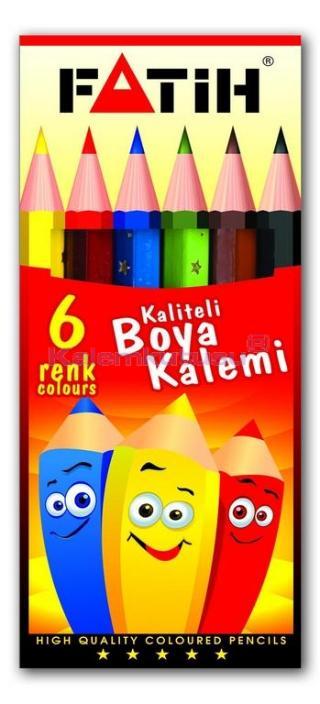 Fatih Kuruboya 6 Renk 1/2 Boy 33006