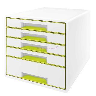 Leitz Evrak Rafi Wow 5 Çekmece Yeşil/beyaz L-5214