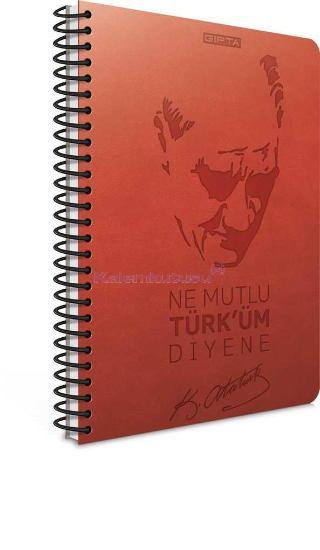 Gipta Defter 17x24 Atatürk Spr.sert 120yp.çiz.1550