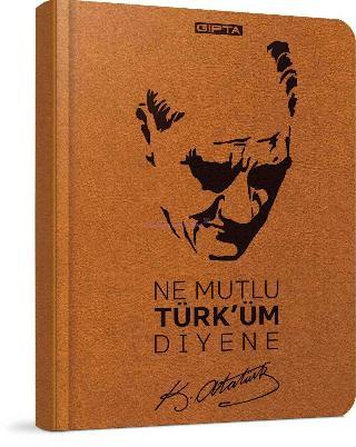 Gipta Defter 13x21 Atatürk Spr.sert 120yp.çiz.2599