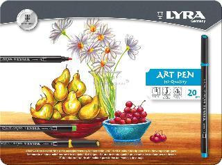 Lyra Hi Quality Art Pen 20 Li Metal Kutu L6751200