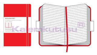 MOLESKINE Red Hard Cover Ruled Notebook 9x14cm