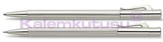Graf von Faber-Castell Slim Line Paladyum İnce Tükenmez Kalem + Versatil Kalem Set <br>