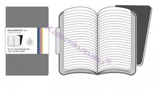 MOLESKINE VOLANT SET OF 2 RULED NOTEBOOKS 13x21 cm - grey
