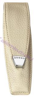 ONLINE Leather Crystallized® -Swarovski Tasarım Tekli Kalem Kılıfı (14.5x3.5cm) - Şampanya