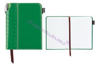 Cross Journals Suni Deri Kaplı Orta Boy (A5) Özel Defter - (Kalem Hediye) - Yeşil