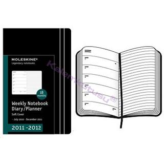 Moleskine soft cover 18 aylik ajanda 13x21cm weeklyplanner notebook