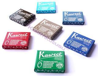 Kaweco 6lı Dolmakalem kartuşu - 8 Farklı Renk Seçeneği