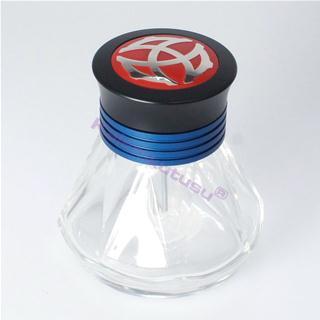 Twsbi Diamond Kristal Mürekkep Şişesi / Taşlanmış Alüminyum Mavi Kemer - 50 ml.