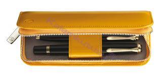 Pelikan Kum Sarısı Rugan Deri 2li Kalem Kılıfı