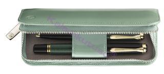 Pelikan Pastel Yeşili Rugan Deri 2li Kalem Kılıfı
