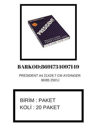 PRESIDENT AYDINGER A4 80/85 GR 250 Lİ