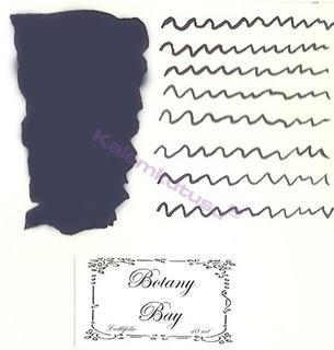 LArtisan Pastellier Callifolio Dolmakalem Mürekkebi / 40ml Cam şişe - Botany Körfezi mavi/siyah