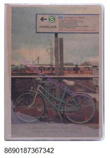 Scrikss Notelook Bisiklet Temalı Eskitilmiş Görünüm (13.5x18.5cm) Defter