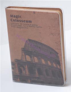Scrikss Magic Colosseum Tarihi Yapılar Temalı Eskitilmiş Görünüm (9.5x13.5cm) Defter