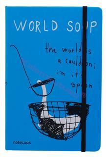 """Scrikss Notelook """"WORLD SOUP"""" Notebook - A6 (10.5x14.8cm)"""