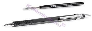 TWSBI Precision Black Steel Üsten Basmalı Tükenmez Kalem<br><img src=resim/isyaz.gif border=0/>