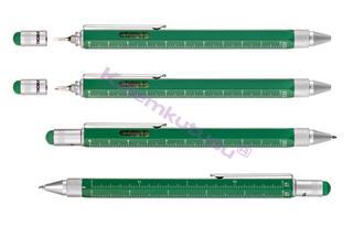 TROIKA CONSTRUCTION Multitasking Pen<br>4 farklı metrik oran + Su Terazisi + Yıldız/Düz Tornavida + Stylus + Tükenmezkalem<br><img src=resim/isyaz.gif border=0/>