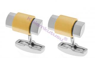 CROSS Newport Çelik/PVD Altın Kaplamalı Kol Düğmesi